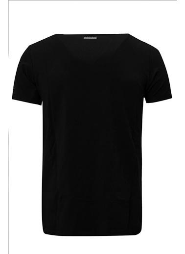 Lufian Tuna Basic T- Shirt Siyah
